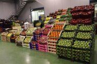 Exposición de fruta y verdura para minoristas